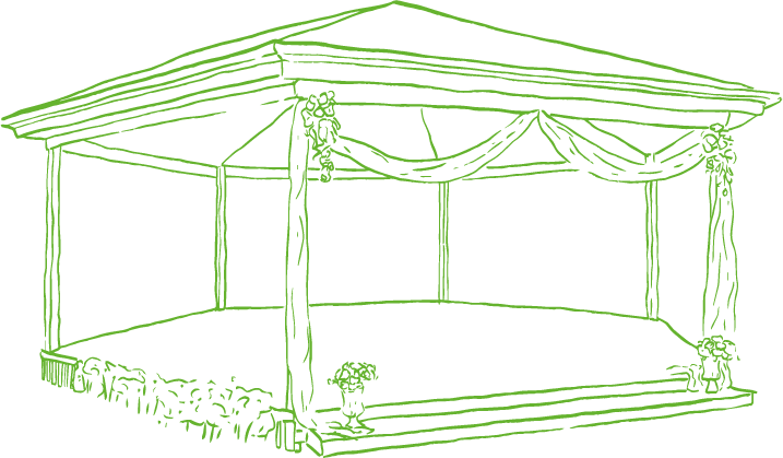 An illustration of the Rotunda at Summerland Farm