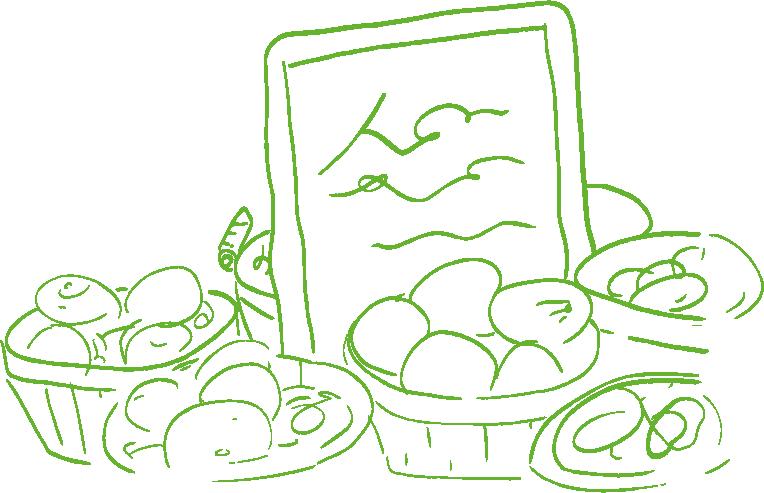 An illustration of fresh farm produce