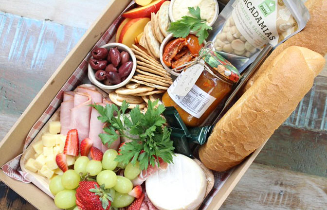 Delicious range of food for Summerland Farm picnic menu